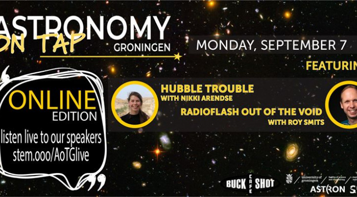 Astronomy on  Tap: Hubble Trouble & Radioflash out of the void (online from Groningen)