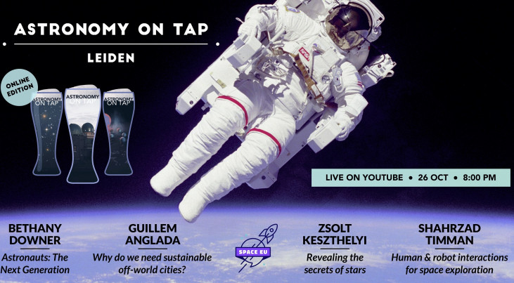 Astronomy on tap: Next generation space exploring (online from Leiden, in English)