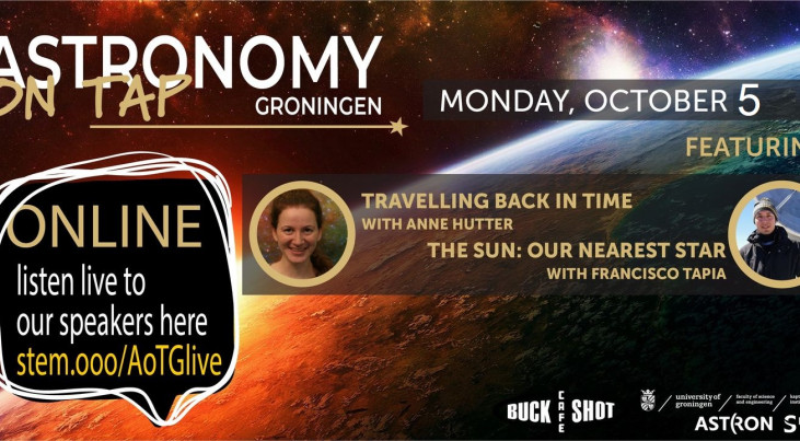 Astronomy on Tap: Travelling back in time & the sun (online, in het Engels)